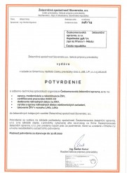 ŽSSK - potvrzení o odborné způsobilosti